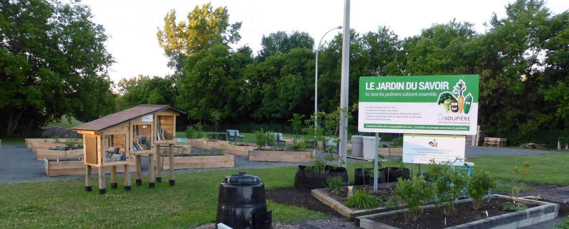 Jardins du Savoir, rue Monseigneur-Forbes, Joliette