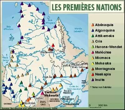Cartes des Premières nations